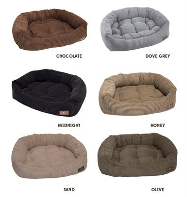 Jax and Bones Napper Dog Bed - Corduroy Fabric - ZoeDoggy of Beverly Hills