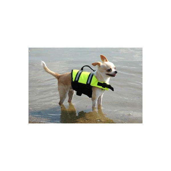 Paws Aboard Designer Doggy Life Jacket - Yellow - ZoeDoggy of Beverly Hills