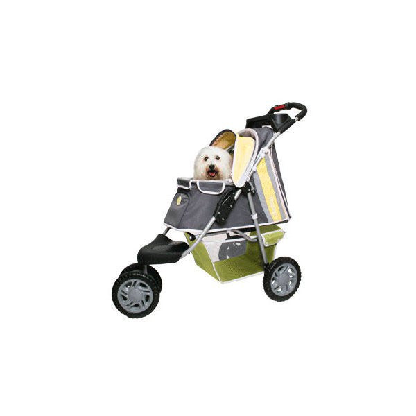 PetZip 1st Class Luxury Pet Jogging Stroller - Yellow - ZoeDoggy of Beverly Hills