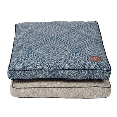 Jax and Bones Pillow Dog Bed - Gatsby Blue - ZoeDoggy of Beverly Hills