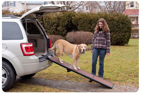 Portable Full Length Tri-Fold Pet Ramp - Chocolate / Black by Pet Gear - ZoeDoggy of Beverly Hills