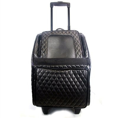 Quilted Luxe Rio Rolling Dog Carrier by Petote - ZoeDoggy of Beverly Hills