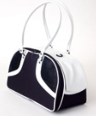 Black & White Roxy Doggy Handbag by Petote - ZoeDoggy of Beverly Hills