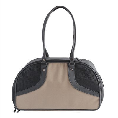 Tan & Black Roxy Doggy Handbag by Petote - ZoeDoggy of Beverly Hills