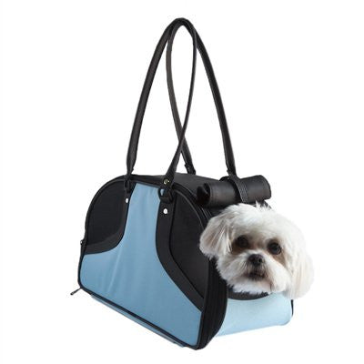 Turquoise & Black Roxy Doggy Handbag by Petote - ZoeDoggy of Beverly Hills