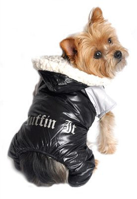 """Ruffin It"" Black and Grey Two Tone Snow Suit - ZoeDoggy of Beverly Hills"