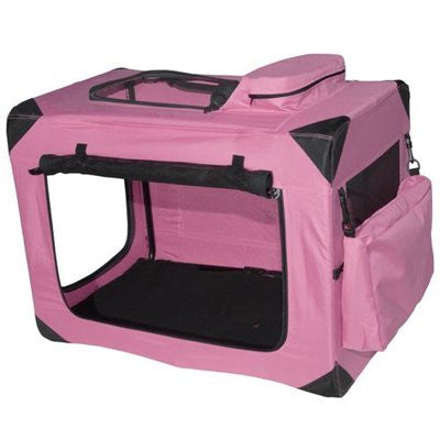 Small Deluxe Soft Crate, Generation II - Pink by Pet Gear - ZoeDoggy of Beverly Hills