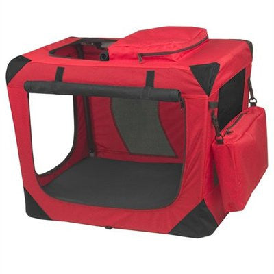Small Deluxe Soft Crate, Generation II - Red Poppy by Pet Gear - ZoeDoggy of Beverly Hills