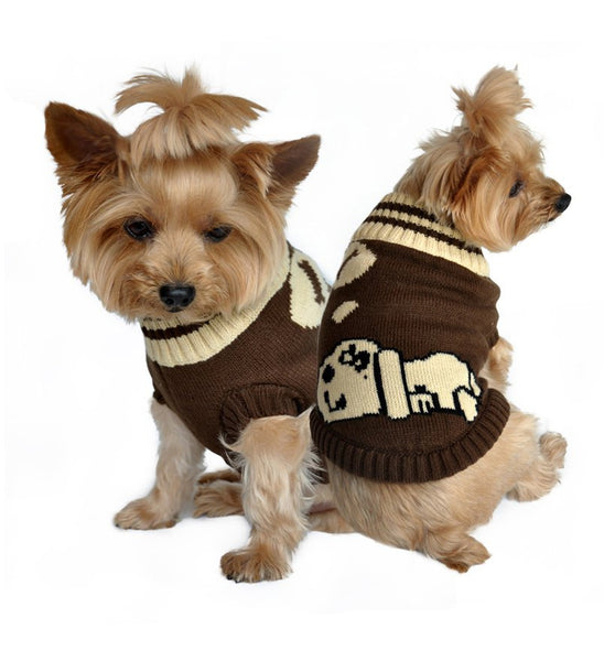 Dreaming Dog Sweater - Brown - ZoeDoggy of Beverly Hills