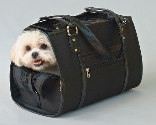 Black Payton Bag Doggy Handbag - ZoeDoggy of Beverly Hills