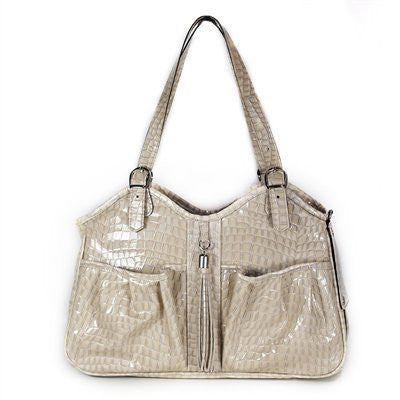 Twilight Croco with Tassel Metro 2 Doggy Handbag By Petote - ZoeDoggy of Beverly Hills