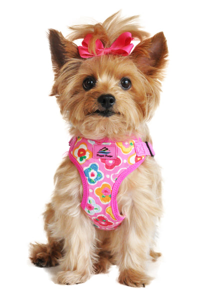 Wrap and Snap Choke Free Dog Harness - Maui Pink - ZoeDoggy of Beverly Hills