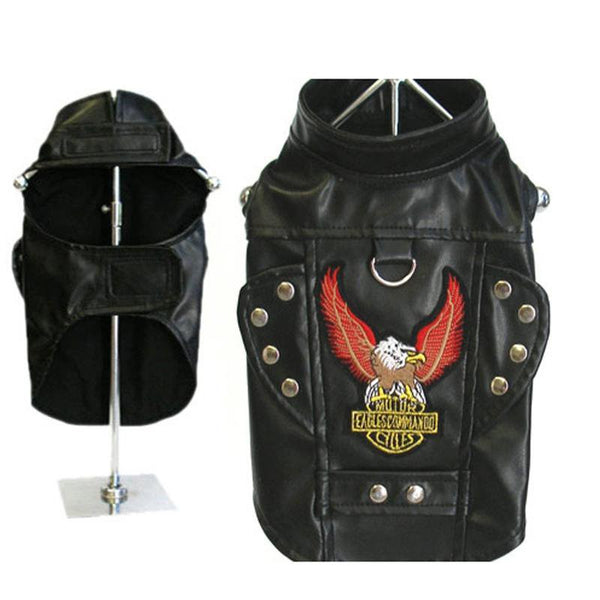 Born To Ride Motorcycle Dog Harness Jacket - Black - ZoeDoggy of Beverly Hills