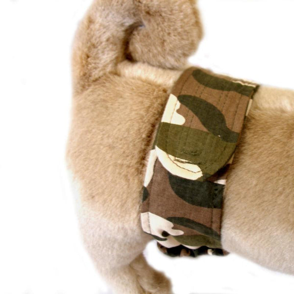 Camouflage P-Pocket Dog Belly Band - ZoeDoggy of Beverly Hills