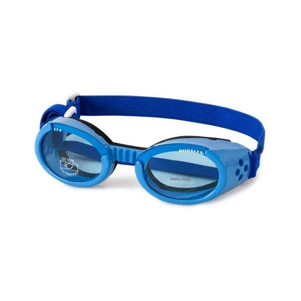 Dog Goggles: Doggles ILS Shiny Blue Goggles With Blue Lens - ZoeDoggy of Beverly Hills