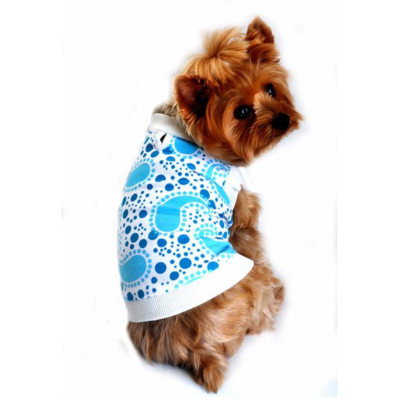 Adorable Paisley Dog Tank Top - Blue - ZoeDoggy of Beverly Hills