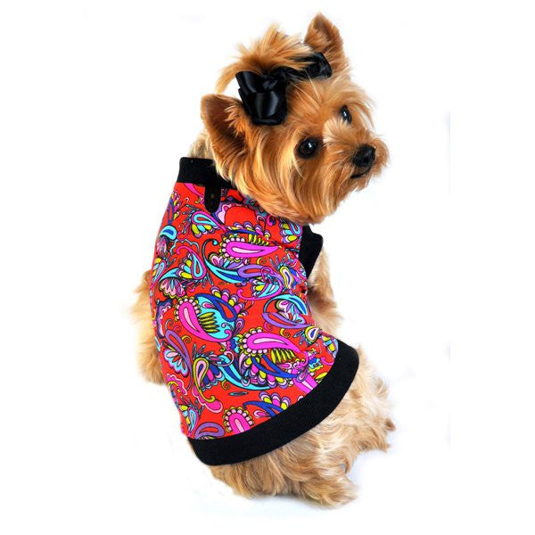 Adorable Paisley Dog Tank Top - Pink - ZoeDoggy of Beverly Hills