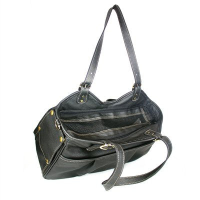 Midnight Metro with Tassel Doggy Handbag by Petote - ZoeDoggy of Beverly Hills