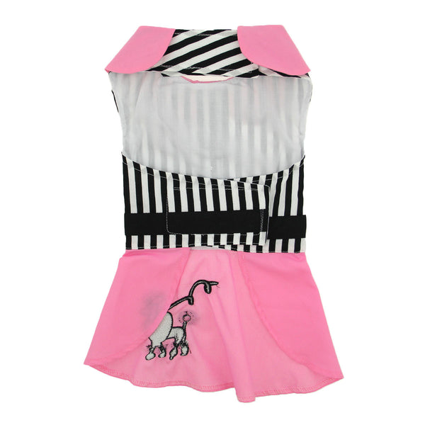 Pink Poodle Designer Dog Dress - ZoeDoggy of Beverly Hills