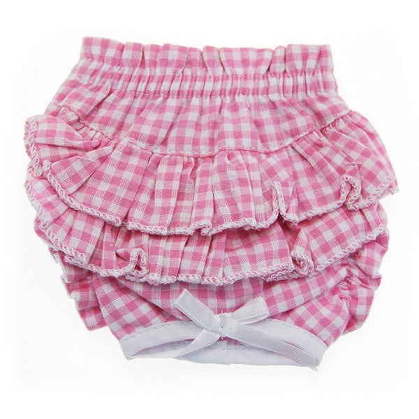 Ruffled Pink Plaid Dog Panties - ZoeDoggy of Beverly Hills