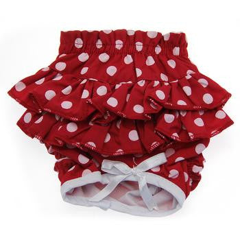 Ruffled Red and White Polka Dot Dog Panties - ZoeDoggy of Beverly Hills