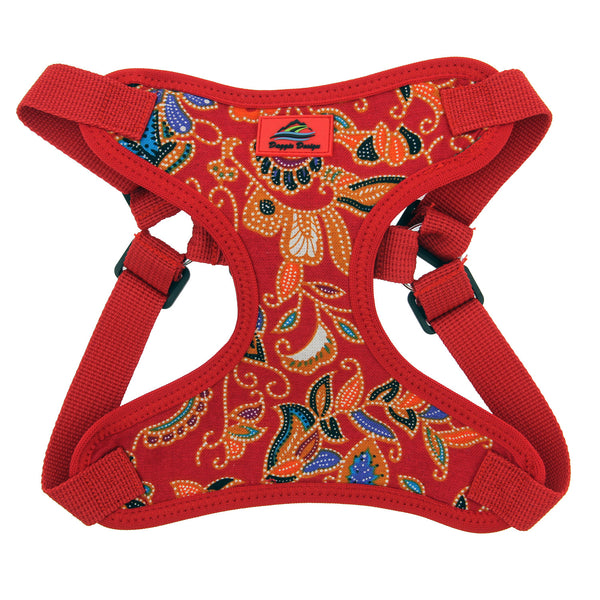 Wrap and Snap Choke Free Dog Harness - Tahiti Red - ZoeDoggy of Beverly Hills