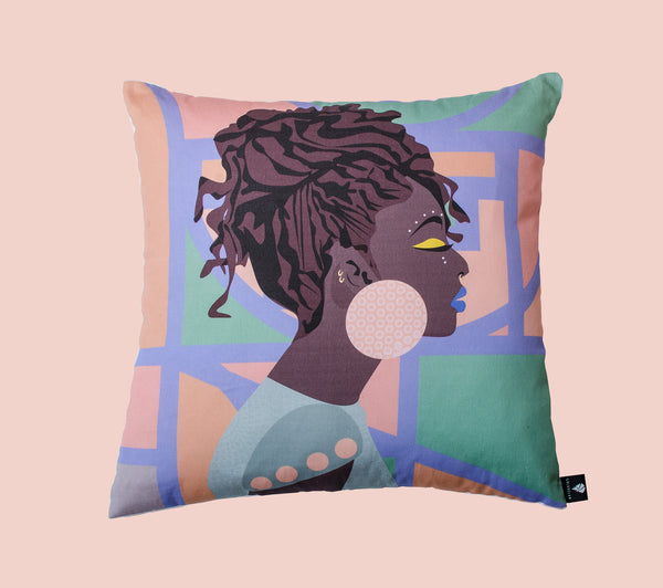 Lulasclan thando scatter cushion digital printing on cotton meet the other side of africa collection