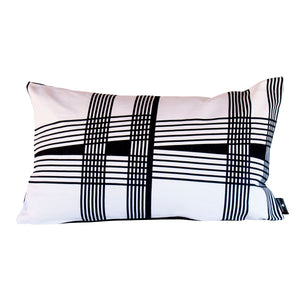 Lulasclan Venda Wenda Black & white lumbar small pillow