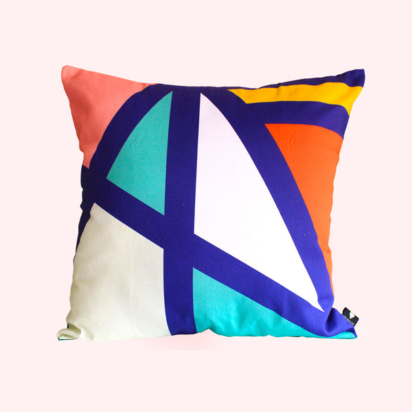 Colourful bold West scatter cushion