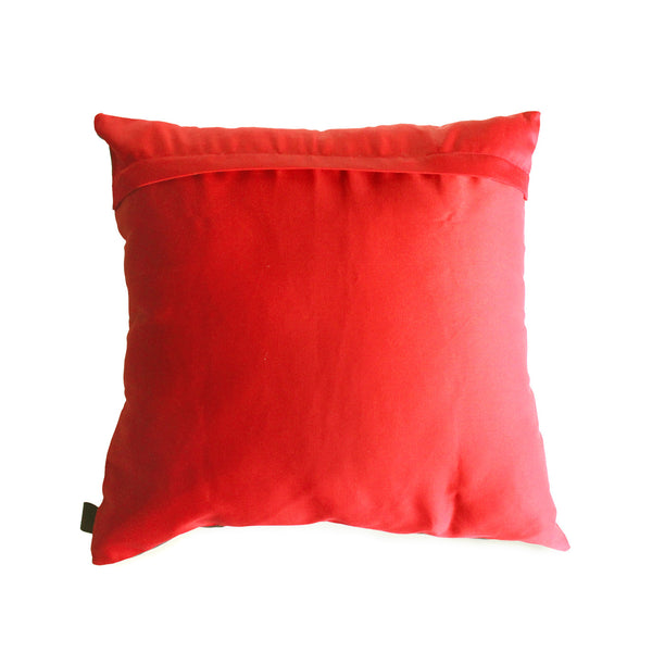 bauhaus inspired scatter cushion with red background