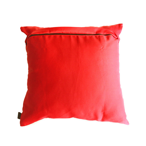 bauhaus inspired scatter cushion with black zip detail