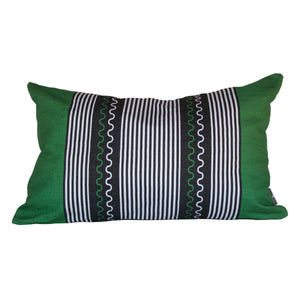 Xhosa forest green small lumbar pillow