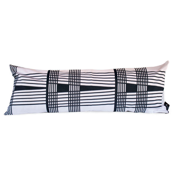 Venda Wenda Black White Lumbar Pillow Lulasclan