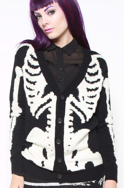 Wishbone Boyfriend Cardigan
