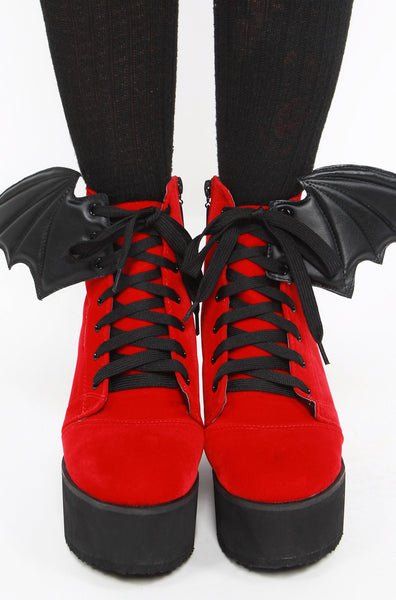Bat Wing Boot (RED & BLACK)