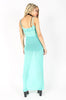 Bone Deep Mesh Maxi Dress (Aqua)