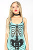 Iron Fist Clothing Australia 2017 Spring Alternative Style Bone Deep Mesh Maxi Mermaid Dress Aqua 4