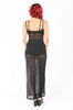 Bone Deep Mesh Maxi Dress (Black)