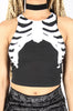Iron Fist Clothing Australia 2017 Spring Alternative Style Bone In Skeleton Crop Tank Black 2
