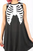 Iron Fist Clothing Australia 2017 Spring Alternative Style Bone In Skeleton Trapeze Tank Dress Black 5