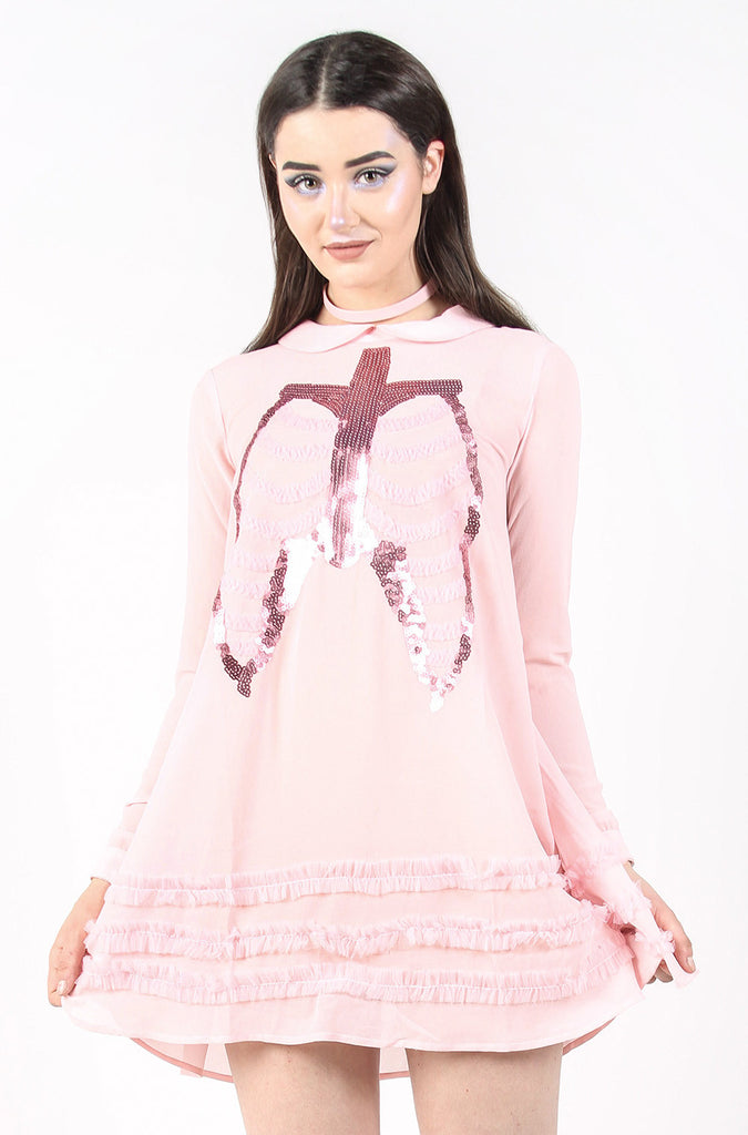 Dead Mermaid Walking Dress (Pink)