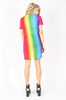 Iron Fist Clothing Australia 2017 Spring Alternative Style Somewhere Rainbow Mesh Dress 4