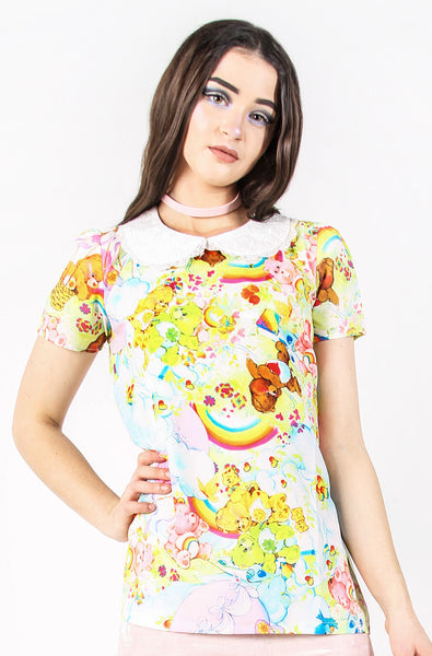Iron Fist Clothing Australia 2017 Spring Alternative Style Care Bears Spring Fling Girly Top 1