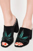 Iron Fist Clothing Australia 2017 Spring Alternative Shoes Marie Jane Weed Slide Heels Black 1