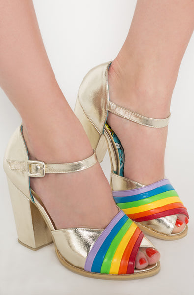 Iron Fist Clothing Australia 2017 Spring Alternative Shoes Over It Rainbow Heels 1
