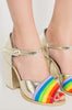 Iron Fist Clothing Australia 2017 Spring Alternative Style Over It Rainbow Heels 6