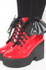Iron Fist Clothing Australia 2017 Spring Shoes Bat Wing Boots Patent Red 1