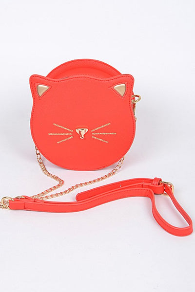 Cat Face Bag in Red