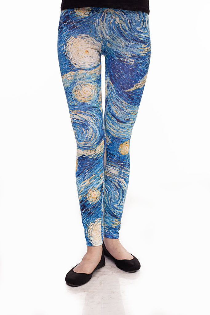 Women's leggings with sky print