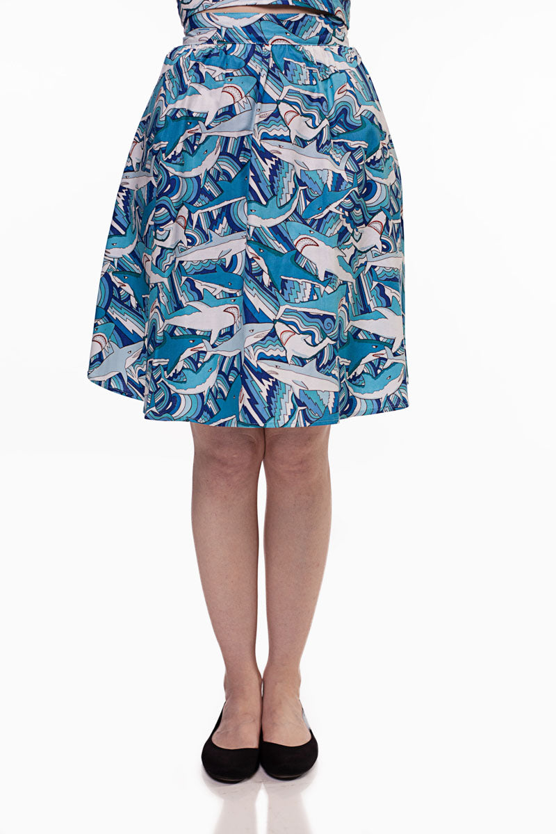 3623 Shark Attack A-line Skirt